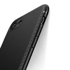coque J Jecent pour iPhone 7 et iPhone 8 de couleur noire